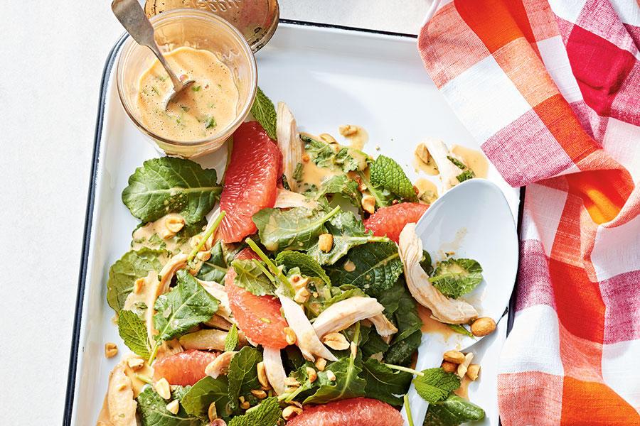 THAI PEANUT, GRAPEFRUIT AND CHICKEN SALAD