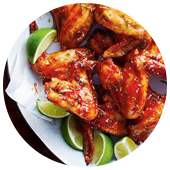 HONEY GINGER SRIRACHA GLAZED WINGS
