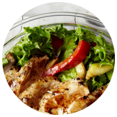 GRILLED VEGETABLE AND CHICKEN SALAD