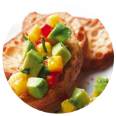 AVOCADO MANGO BRUSCHETTA