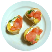 SMOKED SALMON STACKERS
