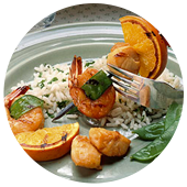 CITRUS SHRIMP AND SCALLOPS