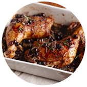 BLUEBERRY-BALSAMIC GLAZED ROSEMARY CHICKEN