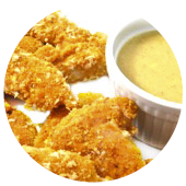 CHICKEN FINGERS WITH HONEY MUSTARD SAUCE