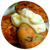 CRAB CAKES WITH CITRUS MAYO