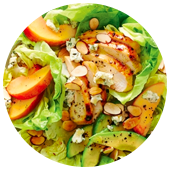 CHICKEN AND PEACH COBB SALAD