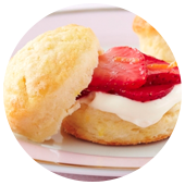 MINI LEMON SCONES WITH STRAWBERRIES AND CREAM