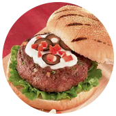 HORSEMEAT BURGER WITH FETA CHEESE