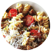 SAUSAGE AND LEEK FUSILLI