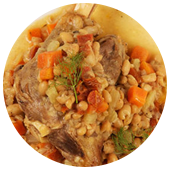 SLOW COOKER LAMB SHANKS WITH FENNEL AND WHITE BEANS