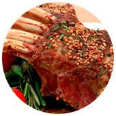 RACK OF LAMB WITH MUSTARD SAUCE