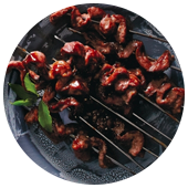 STEAK SKEWERS WITH FIVE-SPICE GLAZE