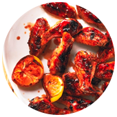 GRILLED HONEY-GARLIC CHICKEN WINGS